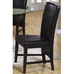 Soho Edition Bi-cast Leather Dining Chairs (Set of 2) - Thumbnail 1