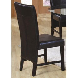 Soho Edition Bi-cast Leather Dining Chairs (Set of 2) - Thumbnail 2