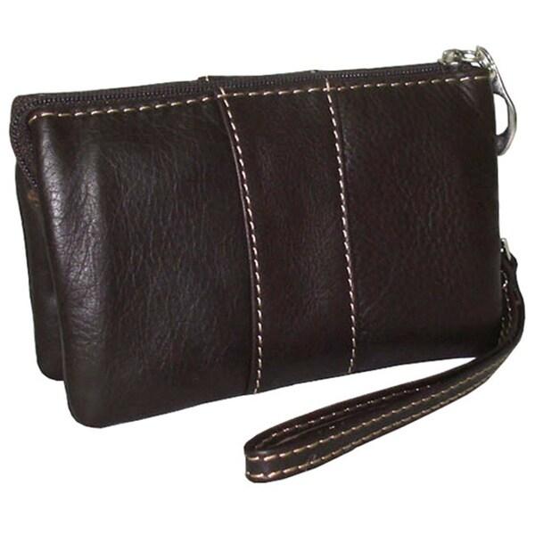 Amerileather Women's Leather Mini Wristlet