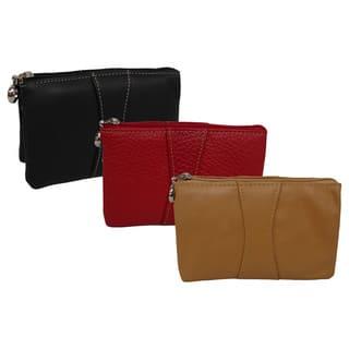 Amerileather Women's Leather Mini Wristlet|https://ak1.ostkcdn.com/images/products/3178820/P11298300.jpg?impolicy=medium