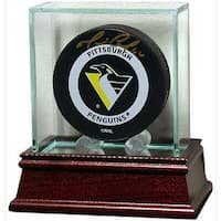 Glass Hockey Puck Display Case