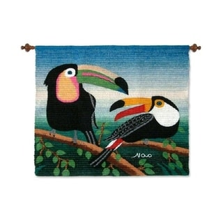 Handmade 'Two Toucans' Wool Tapestry (Peru)