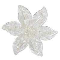 Tiger Lily Romantic Lace Like Feminine Large Single Flower Vintage Look 925 Sterling Silver Filigree (Indonesia)