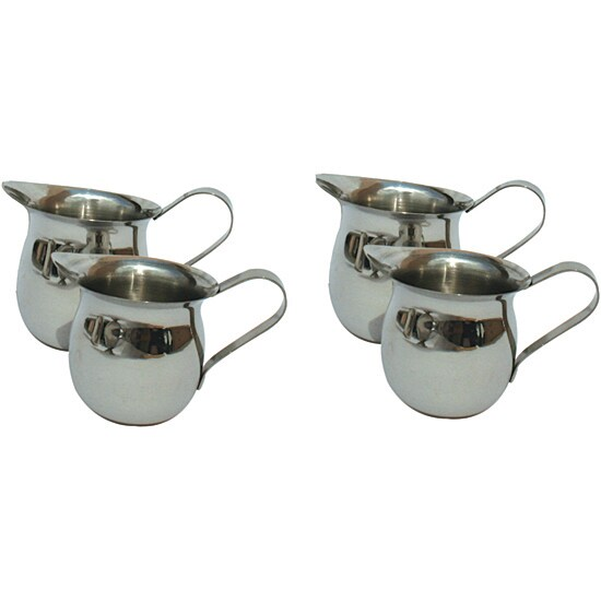 Four-piece Stainless Steel 8-oz Creamer Set