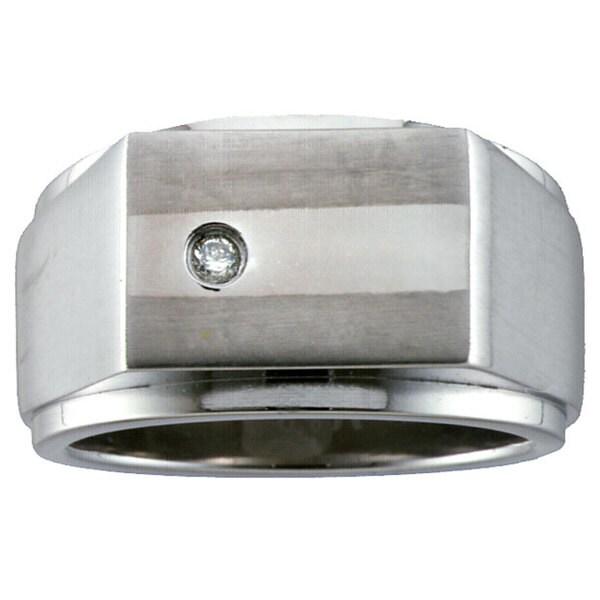 Men's Titanium Diamond Ring
