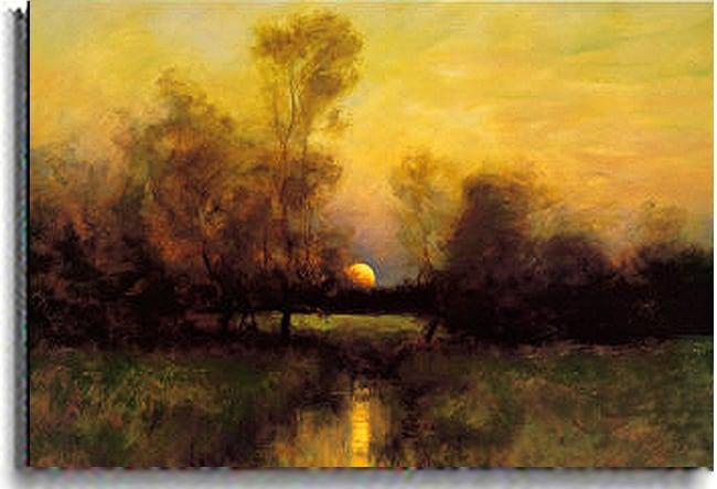 Dennis Sheehan 'Summer Moonrise' Canvas Art - Thumbnail 1