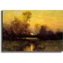 Dennis Sheehan 'Summer Moonrise' Canvas Art