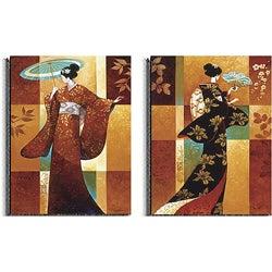 Keith Mallett 'Misaka and Sakura' 2-piece Art Set