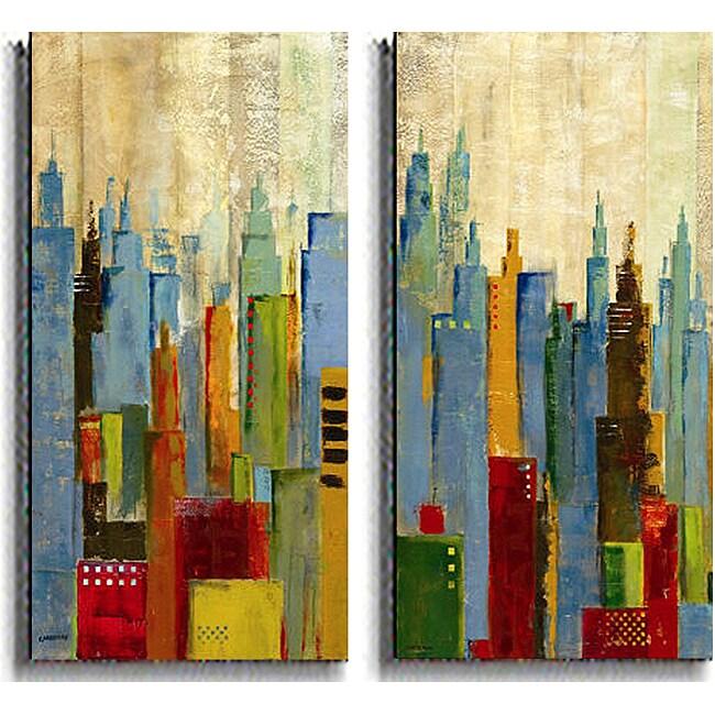 Jason Cardenas 'Towerscape' 2-piece Canvas Set