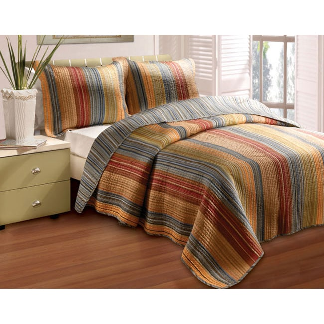 Greenland Home Fashions Katy 3-piece Quilt Set (Queen/Ful...