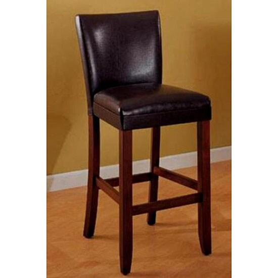 Empire Dark Brown Bicast Leather Barstools Set Of 2