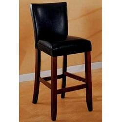 Empire Black Bicast Leather Bar Stools (Set of 2)