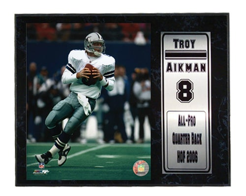 Troy Aikman 12x15 Stat and Photo Plaque