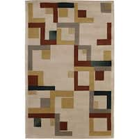 Nourison Hand-tufted Dimensions Beige Rug - 3'6 x 5'6