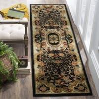 Safavieh Handmade Classic Empire Black/ Gold Wool Runner Rug - 2'3 x 10'