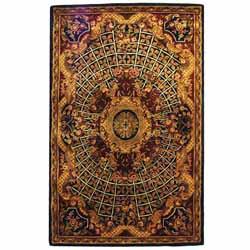 Safavieh Handmade Classic Empire Royal Blue/ Burgundy Wool Rug (4' x 6')