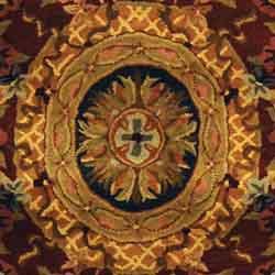 Safavieh Handmade Classic Empire Royal Blue/ Burgundy Wool Rug (6' x 9') - Thumbnail 1