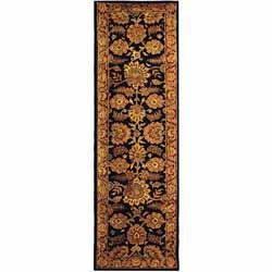 Safavieh Handmade Classic Heirloom Navy/ Red Wool Runner (2'3 x 12')
