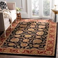 Safavieh Handmade Classic Heirloom Navy/ Red Wool Rug (4' x 6')