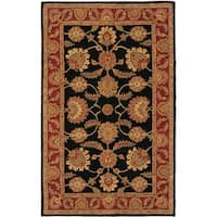Safavieh Handmade Classic Heirloom Navy/ Red Wool Rug - 5' x 8'