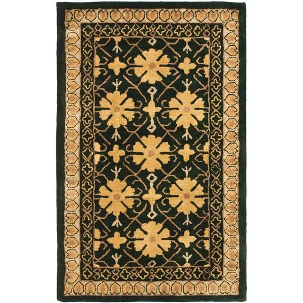 Shop Safavieh Handmade Classic Agra Green/ Apricot Wool