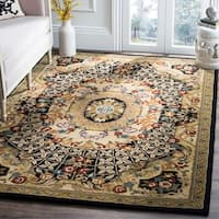 Safavieh Handmade Classic Empire Black/ Gold Wool Rug - 6' x 9'