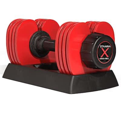 Stamina X 50-pound Versa-Bell Dumbbell - Red