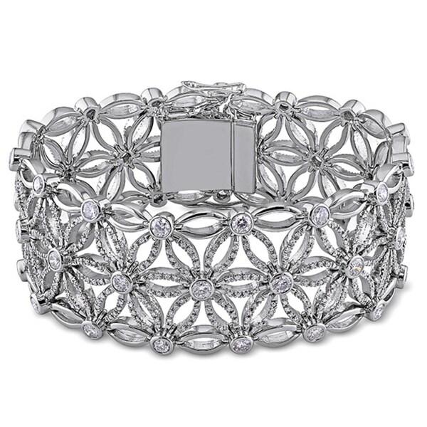 Miadora Signature Collection 18k White Gold 7 1/5ct Vintage Diamond Bracelet
