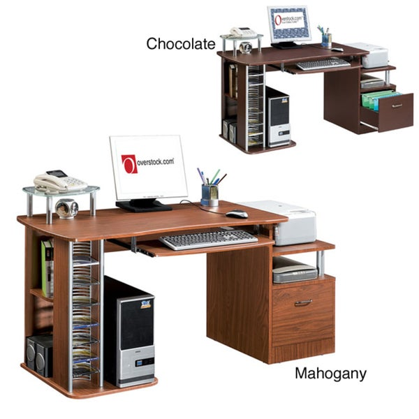 Deluxe Ergonomic Multifunction Computer Desk