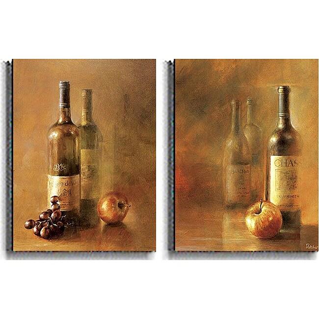 Fletcher Crossman 'Sunset Wine' 2-piece Unframed Canvas Set