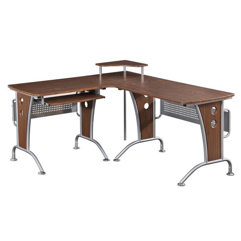 Deluxe Loft-style L-shaped Computer Desk (Deluxe Loft Sty...