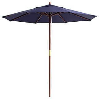 Lauren & Company Premium 9-foot Round Wood Patio Umbrella