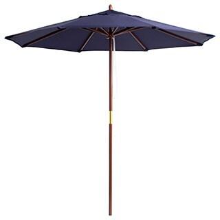 Lauren U0026 Company Premium 9 Foot Round Wood Patio Umbrella
