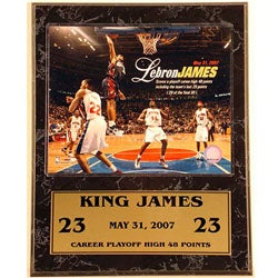 LeBron James 12x15 Sat Plaque