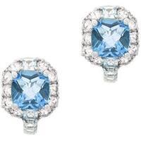 Glitzy Rocks Sterling Silver 7.4 CTW Genuine Multi-topaz Earrings