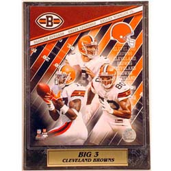 Cleveland Browns' 9x12 Big 3 Sports Plaque