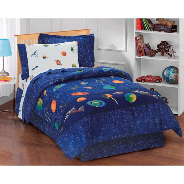 Galaxy Space Cotton/Polyester 6-piece Bed in a Bag with Sheet Set