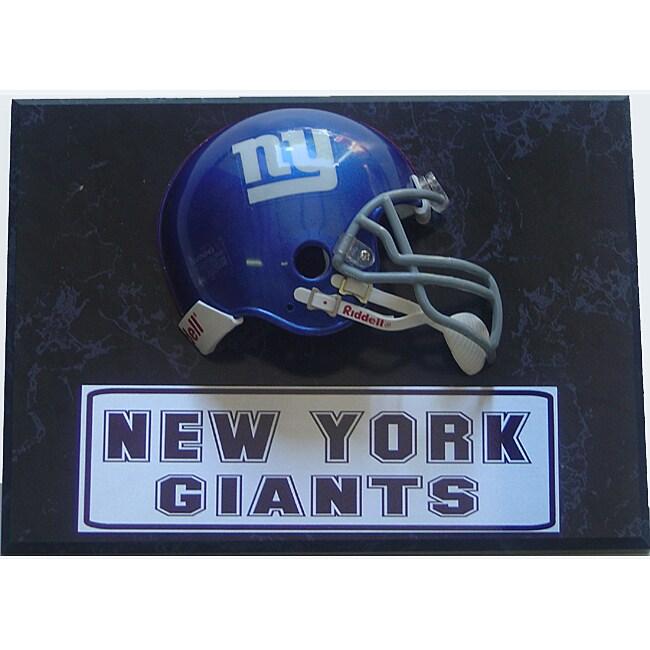 NY Giants Mini Helmet 9x12 Sports Plaque