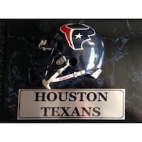 Houston Texans 9x12 Helmet Plaque