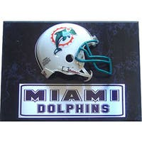 Miami Dolphins 9x12 Helmet Plaque