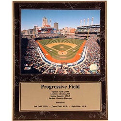 Progressive Field 12x15 Deluxe Sports Plaque