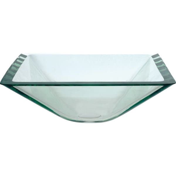glass bowl sink stopper leaking square vessel clear pop up drain mounting ring satin nickel blue sinks for bathrooms