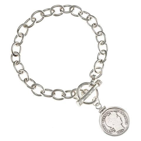 American Coin Treasures Silver Barber Dime Bracelet