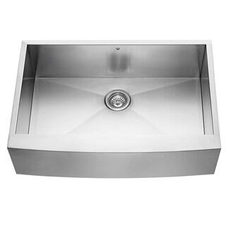 Clearance Vigo  Inch Farmhouse Stainless Steel  Gauge Single Bowl Kitchen Sink