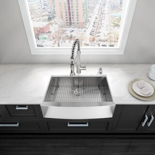"VIGO 30"" Camden Stainless Steel Farmhouse Kitchen Sink"
