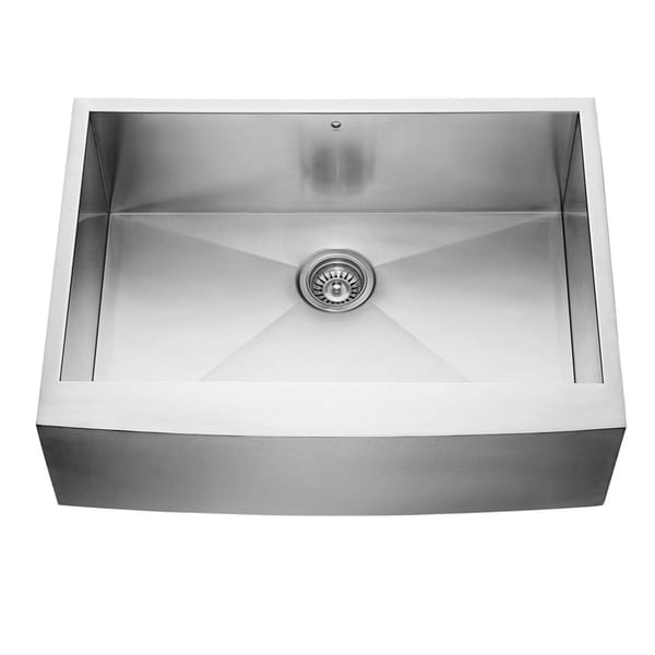 vigo 30 inch farmhouse stainless steel 16 gauge single bowl kitchen sink - White Single Basin Kitchen Sink