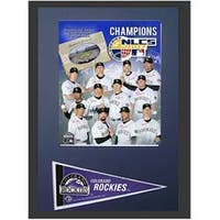 Colorado Rockies 12x18 Custom Frame with Mini Pennant