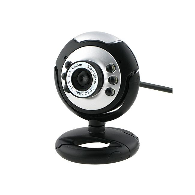 Eforcity Black Round 16 0MP USB Digital Webcam with Mic