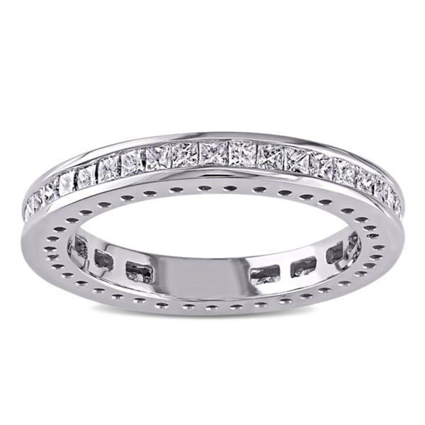 Miadora Signature Collection 14k White Gold 1ct TDW Princess Cut Diamond Band (G-H, I1-I2)