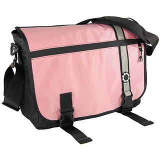 DadGear Messenger Diaper Bag, Retro Stripe Pink